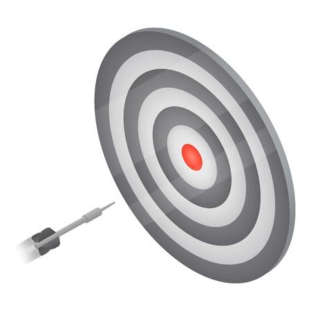 Darts target icon, isometric style