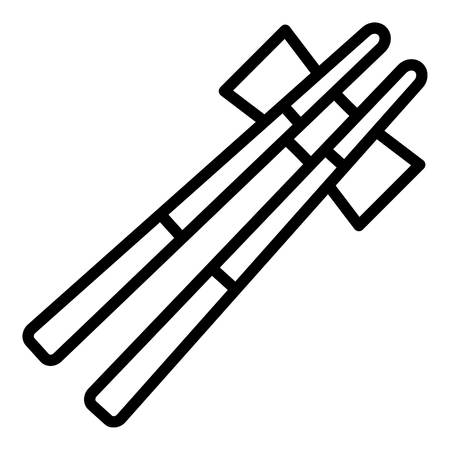 Japan chopsticks icon, outline style