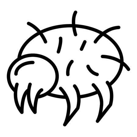 Wild mite icon, outline style