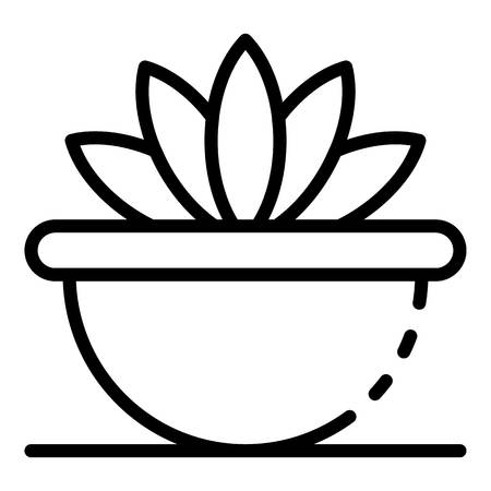 Succulent houseplant icon. Outline succulent houseplant vector icon for web design isolated on white background