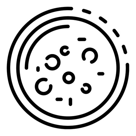 Bacteria in a Petri dish icon, outline style