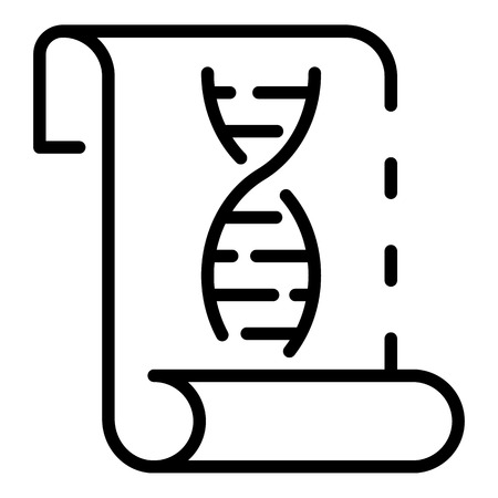 DNA chain on paper icon. Outline DNA chain on paper vector icon for web design isolated on white background Imagens - 130237765