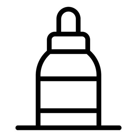 Nose spray icon. Outline nose spray vector icon for web design isolated on white background
