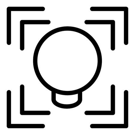 Face detection frame icon, outline style