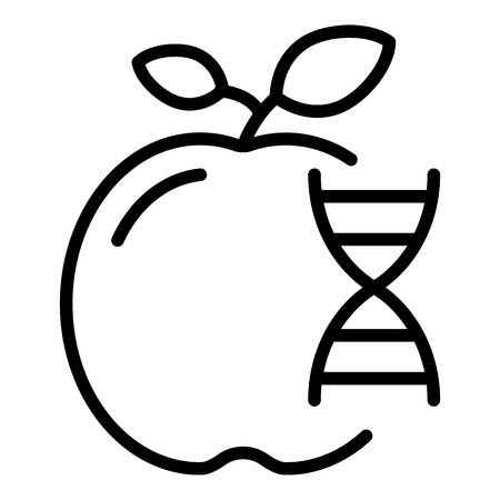Genetically modified fruits icon, outline style
