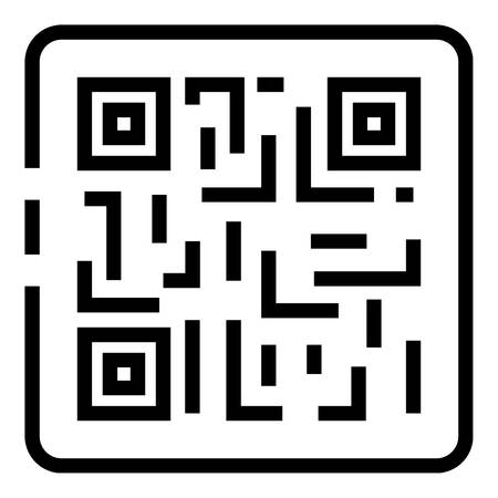 QR code in the frame icon, outline style