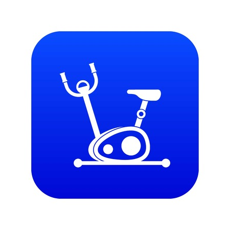 Exercise bike icon digital blue for any design isolated on white vector illustration