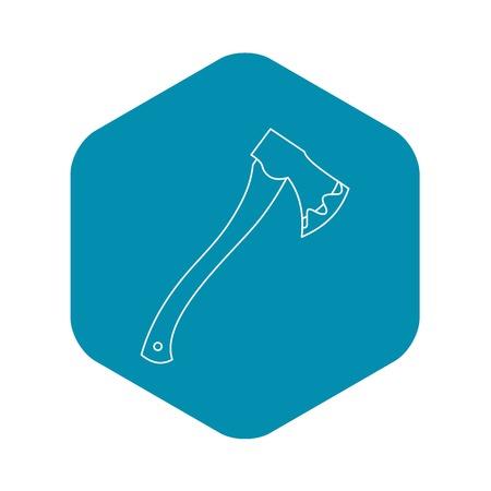 Axe icon, outline style