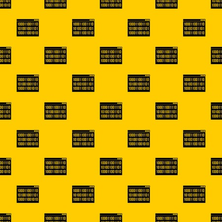 Binary code pattern seamless vector repeat geometric yellow for any design