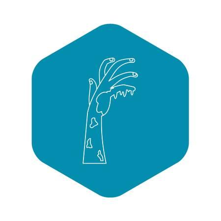 Demonic hand icon. Outline illustration of demonic hand vector icon for web Ilustrace