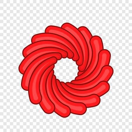Red camera shutter icon. Cartoon illustration of shutter vector icon for web design