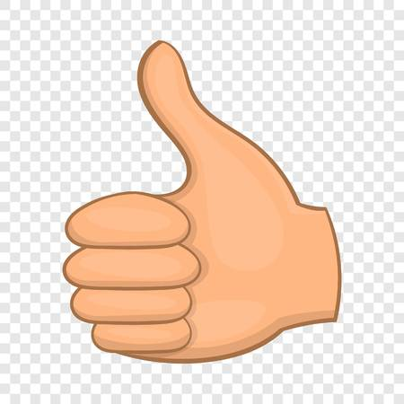 Hand showing thumbs up icon. Cartoon illustration of thumbs up vector icon for web design