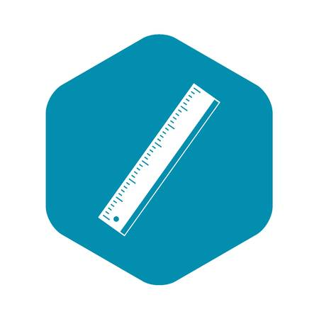 Yardstick icon. Simple illustration of yardstick vector icon for web Иллюстрация