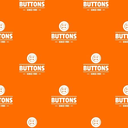 Bouton de vêtements vecteur modèle de couture orange