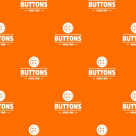 Clothes button dressmaking pattern vector orange