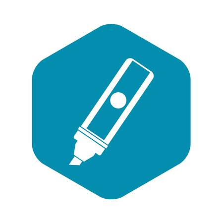 Permanent marker icon, simple style Иллюстрация