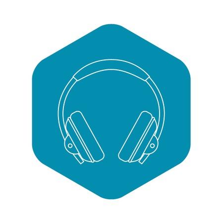 Headphone icon, outline style