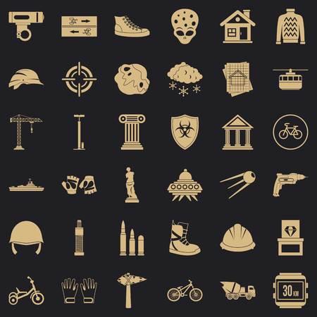Truck icons set, simple style Ilustração