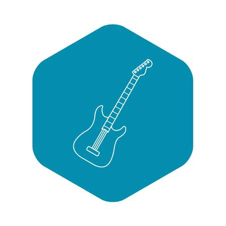 Acoustic guitar icon, outline style