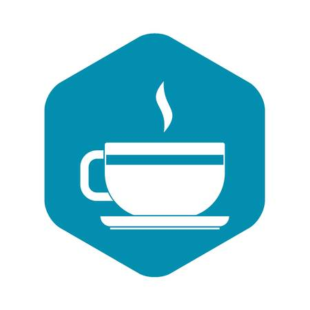 Tea cup and saucer icon. Simple illustration of tea cup and saucer vector icon for web Illustration