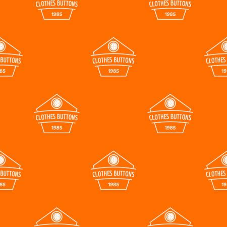 Clothes button dress pattern vector orange 일러스트
