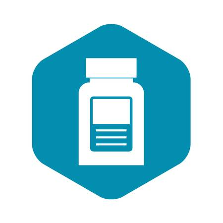 Medicine bottle icon, simple style