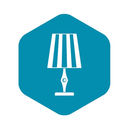 Table lamp icon. Simple illustration of table lamp vector icon for web Illustration