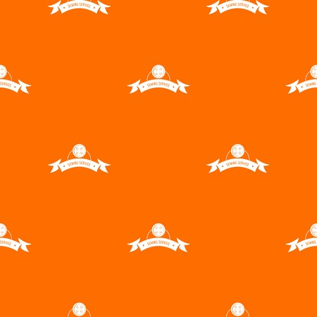Clothes button round pattern vector orange