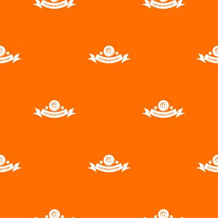 Clothes button fabric pattern vector orange