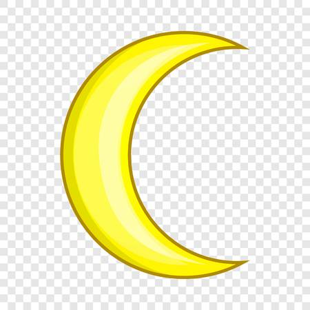 Crescent moon icon. Cartoon illustration of moon vector icon for web design