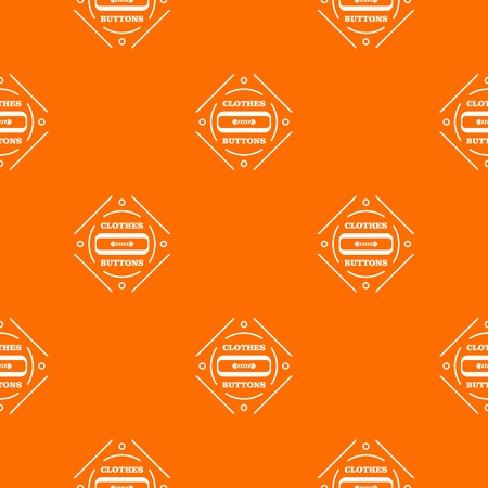 Clothes button plastic pattern vector orange