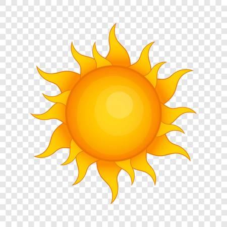 Sun icon, cartoon style Ilustração