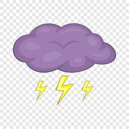 Clouds and storm icon. Cartoon illustration of clouds and storm vector icon for web design Illustration