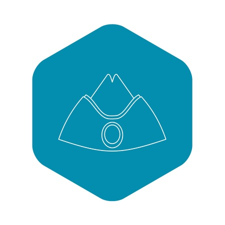 Forage cap icon, outline style Illustration