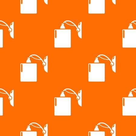 Sconce pattern vector orange