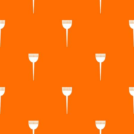Hair brush pattern vector orange