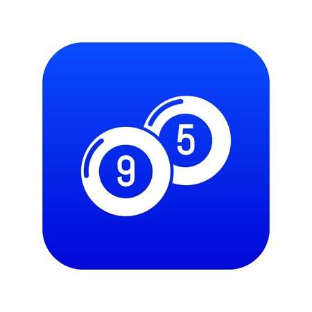 Billiard ball icon blue vector