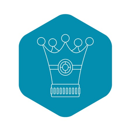 Medieval crown icon, outline style