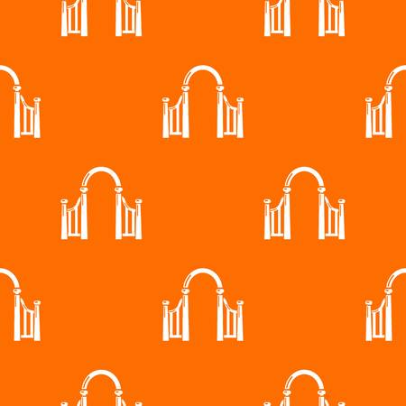 Archway metal pattern vector orange