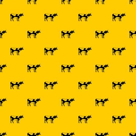 Switzerland cow pattern seamless vector repeat geometric yellow for any design