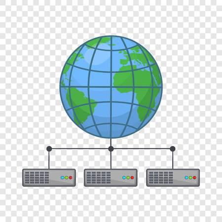 Global storage network icon. Cartoon illustration of clobal storage vector icon for web design Ilustração