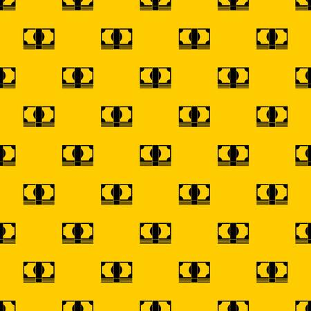 Swiss Franc banknote pattern seamless vector repeat geometric yellow for any design