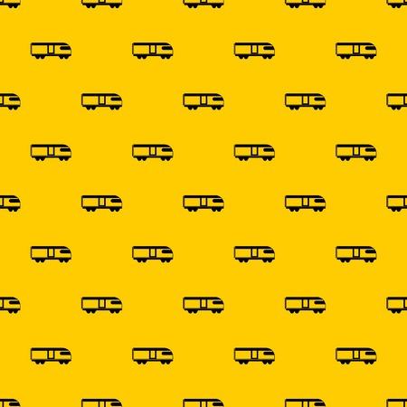 Swiss mountain train pattern vector