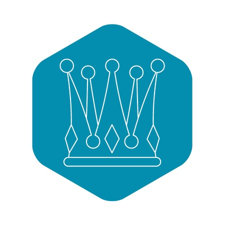 Kingly crown icon. Outline illustration of kingly crown vector icon for web