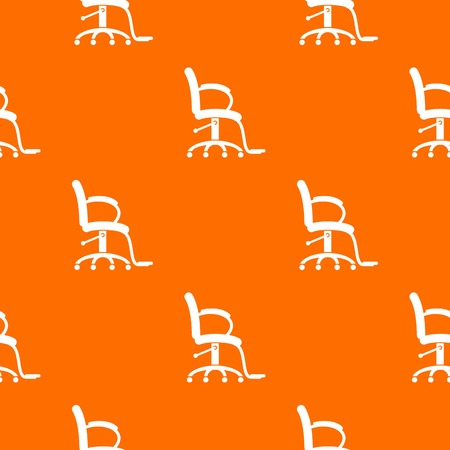 Salon chair pattern vector orange for any web design best