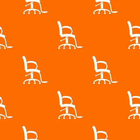 Salon chair pattern vector orange for any web design best