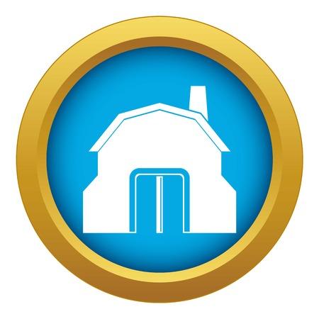 Atelier de forgeron bâtiment icône vecteur bleu isolé