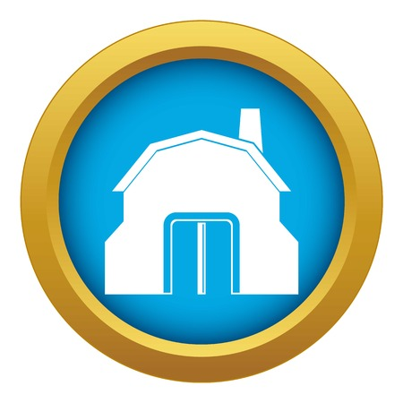 Blacksmith workshop building icon blue vector isolated