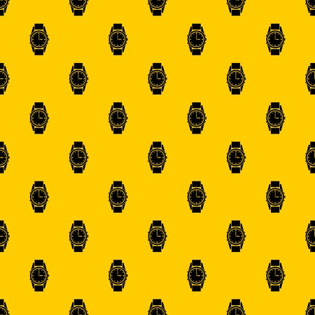 Swiss watch pattern seamless vector repeat geometric yellow for any design