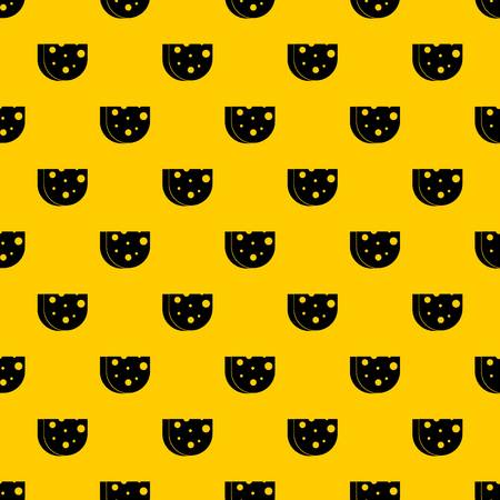 Piece of Swiss cheese pattern vector